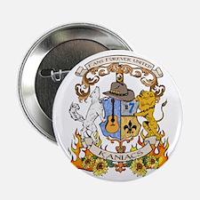 """Kaniac Crest English Motto 2.25"""" Button"""