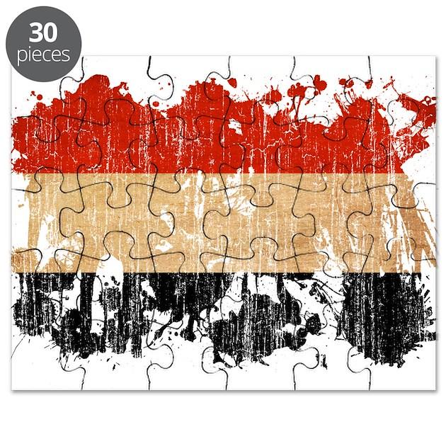 Yemen Flag Puzzle By CoolSplatterWorldFlags