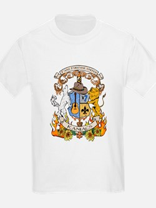 Kaniac Crest English Motto T-Shirt