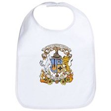 Kaniac Crest English Motto Bib