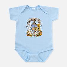 Kaniac Crest English Motto Infant Bodysuit