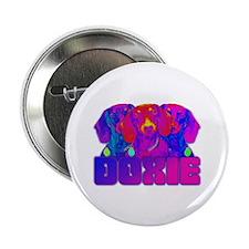 "Op Art Doxie 2.25"" Button"