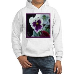 White and Purple Pansy Hoodie