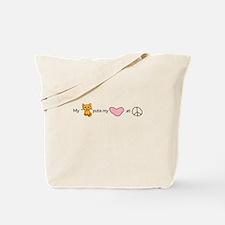 peace love kitty Tote Bag
