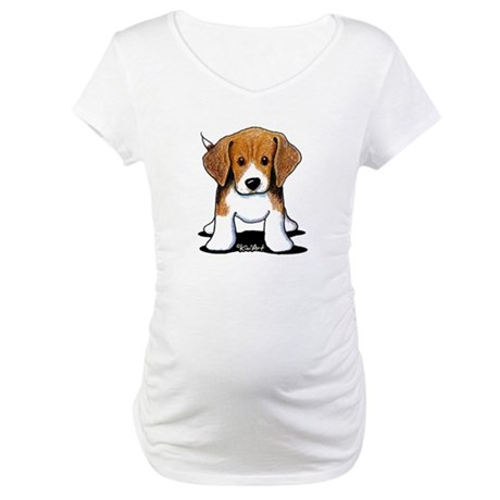Beagle Puppy Maternity T-Shirt