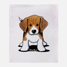 Beagle Puppy Throw Blanket