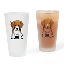Beagle Puppy Drinking Glass
