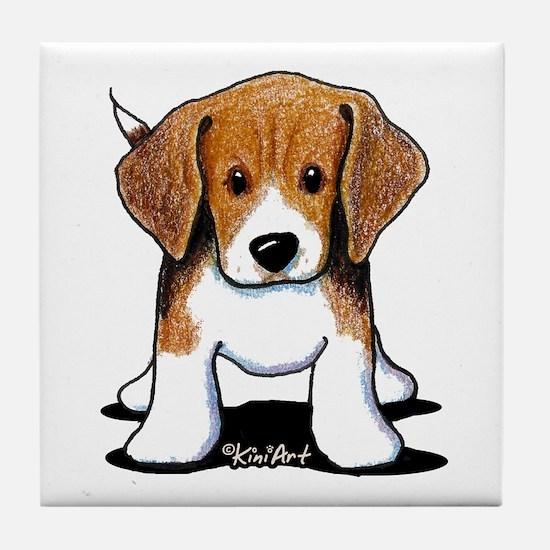 Beagle Puppy Tile Coaster