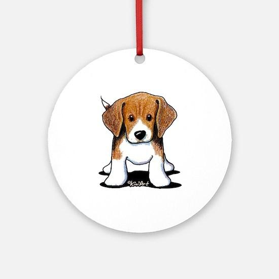 Beagle Puppy Ornament (Round)