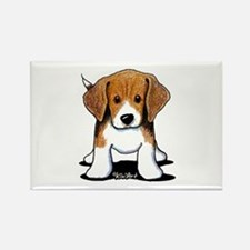 Beagle Puppy Rectangle Magnet