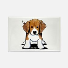 Beagle Puppy Rectangle Magnet (10 pack)