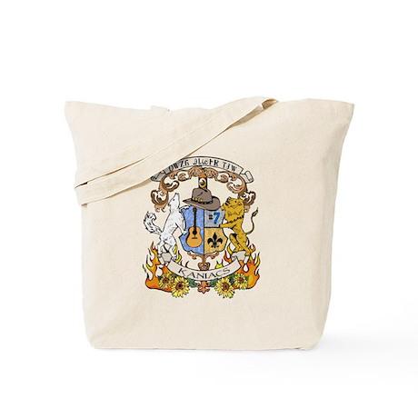Kaniac Crest Cherokee Motto Tote Bag