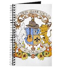 Kaniac Crest Cherokee Motto Journal