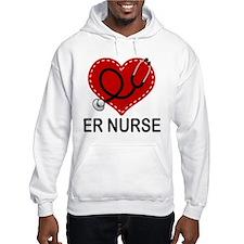 ER Nurse Heart Jumper Hoody