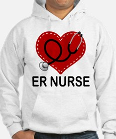 ER Nurse Heart Jumper Hoody