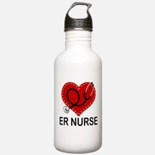 ER Nurse Heart Water Bottle