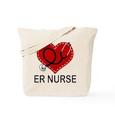ER Nurse Heart Tote Bag