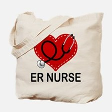 ER Nurse Heart Tote Bag