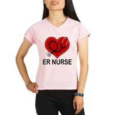 ER Nurse Heart Performance Dry T-Shirt
