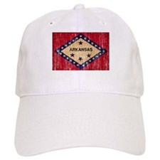 Arkansas textured aged copy.png Baseball Cap