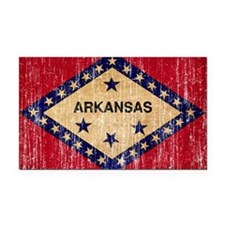 Arkansas textured aged copy.png Rectangle Car Magn