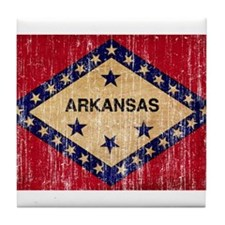 Arkansas textured aged copy.png Tile Coaster