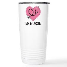ER Nurse Heart Travel Mug