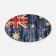 Australia Flag Oval Car Magnet
