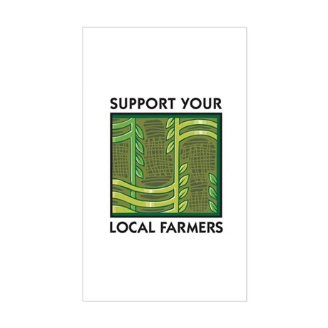 Support Your Local Farmers Rectangle Sticker