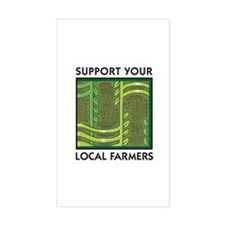 Support Your Local Farmers Rectangle Stickers