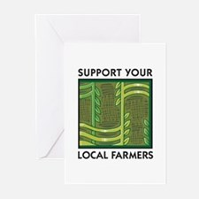 Support Your Local Farmers Greeting Cards (Package