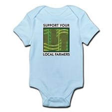 Support Your Local Farmers Infant Creeper