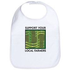 Support Your Local Farmers Bib