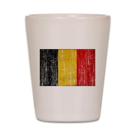 Belgium Flag Shot Glass