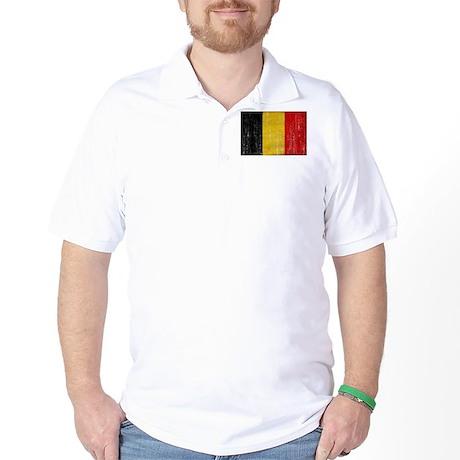 Belgium Flag Golf Shirt