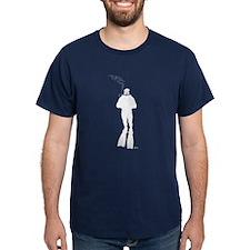 Scuba Diver Silhouette (M) T-Shirt