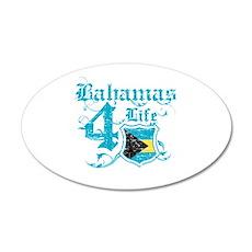 Bahamas for life designs 22x14 Oval Wall Peel