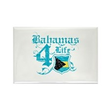 Bahamas for life designs Rectangle Magnet