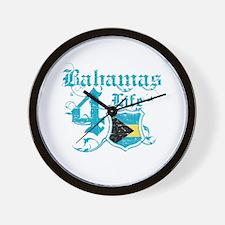 Bahamas for life designs Wall Clock