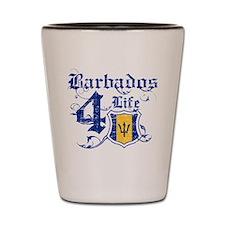 Barbados for life designs Shot Glass