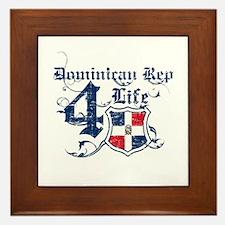 Dominican Republic for life designs Framed Tile