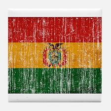 Bolivia Flag Tile Coaster