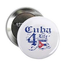 "Cuba for life designs 2.25"" Button"