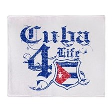 Cuba for life designs Throw Blanket