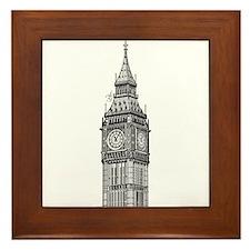London Big Ben Framed Tile