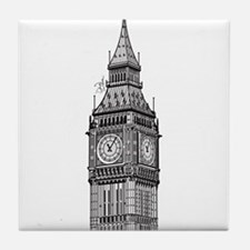 London Big Ben Tile Coaster