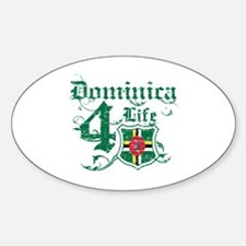 Dominica for life designs Decal