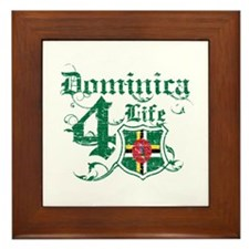 Dominica for life designs Framed Tile