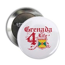 "Grenada for life designs 2.25"" Button"