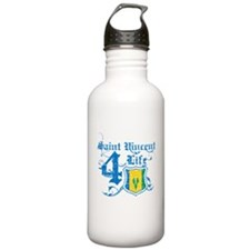 Saint Vincent for life designs Water Bottle
